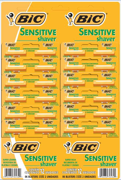 BARB BIC SENSITIVE CRT C/24